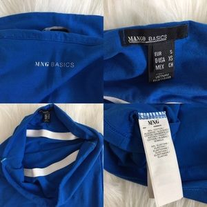 8ecd02ac93 Mango Tops - Mango Basic blue tube top.
